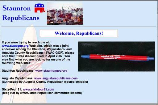 swacgop webpage