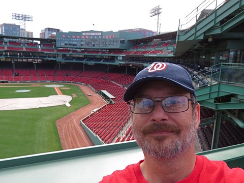 Andrew at Fenway Park