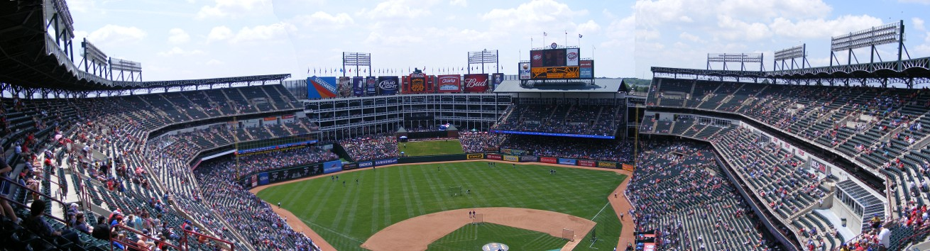 Ballpark in Arlington panorama
