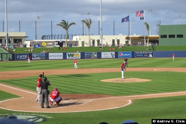 Ballpark of the Palm Beaches behind home plate