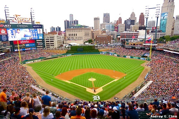 Comerica Park Home Of The Detroit Tigers 2000