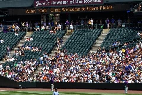 Coors Field Alan Clem welcome