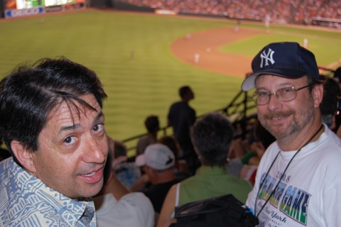 Dave, Andy at Camden Yards