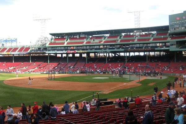 Fenway Park grandstand from LF