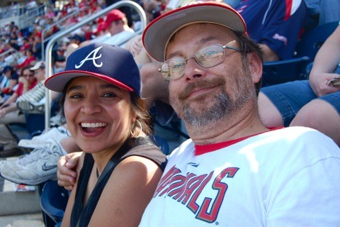 Jacqueline, Andrew at Nationals Park