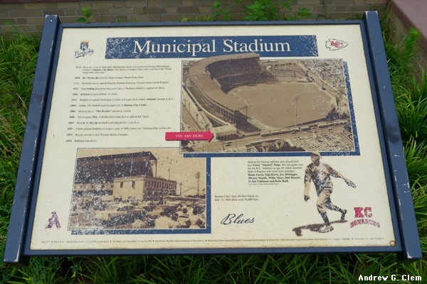 K.C. Municipal Stadium sign