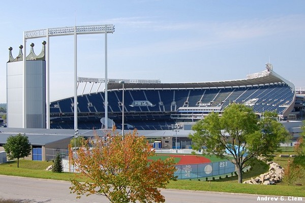 Kauffman Stadium external north