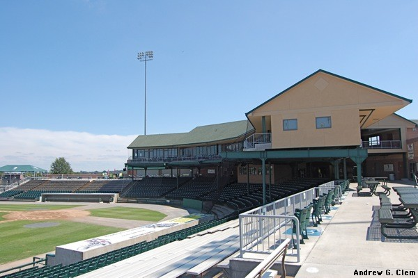 Lynchburg Stadium 3rd base side