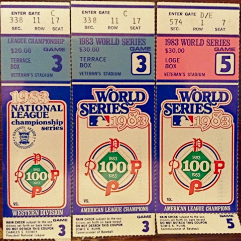 World Series tickets 1983