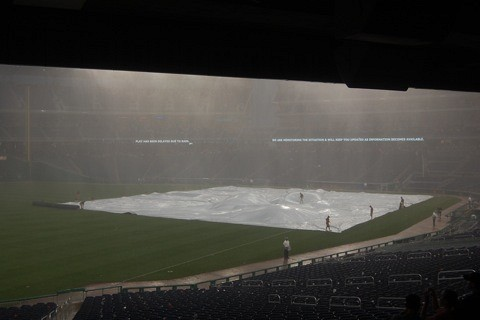Nationals Park, rain tarp