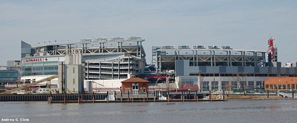 Nationals Park across river