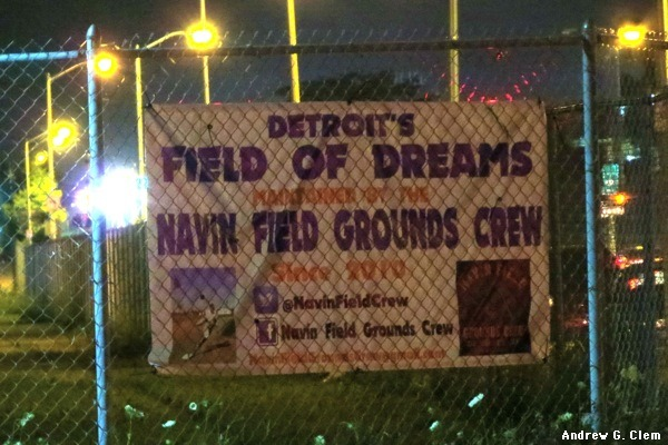 Navin Field Grounds Crew sign