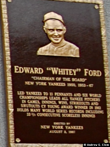 Whitey Ford placque
