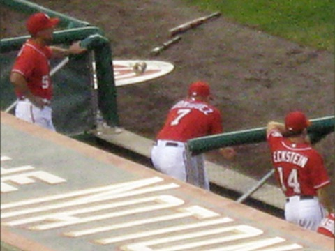 Pudge, Nats dugout Aug 13, 2010