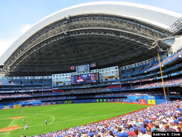 Rogers Centre outfield, dome