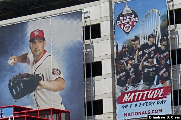 Nationals Park garage champions banner