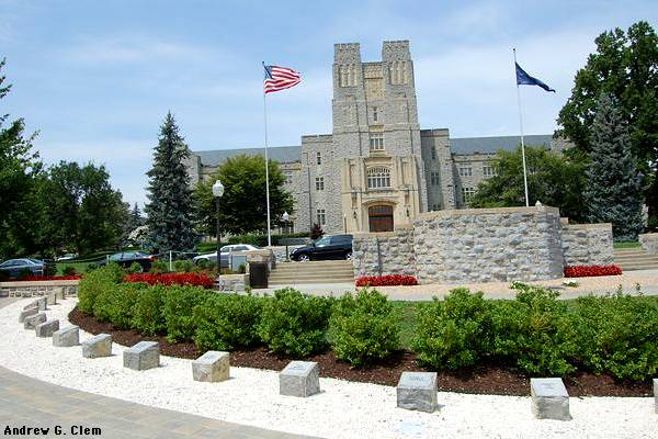 Burruss Hall, VT memorial