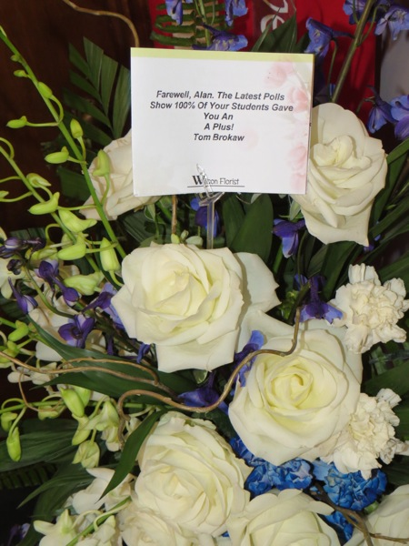 Flowers from Tom Brokaw