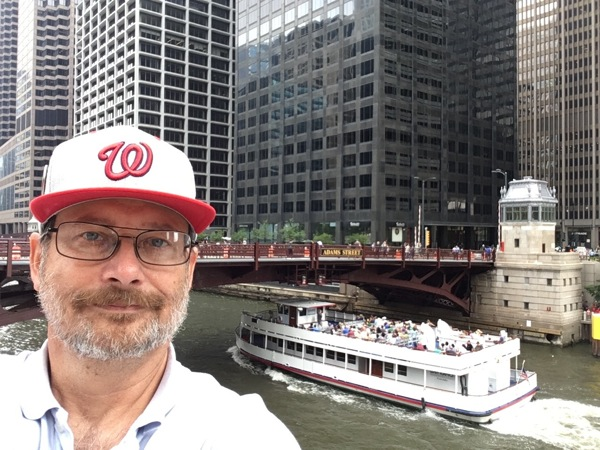 Andrew, Chicago River, boat
