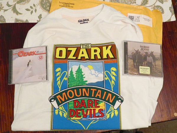 Ozark Mountain Daredevils T-shirt, CDs