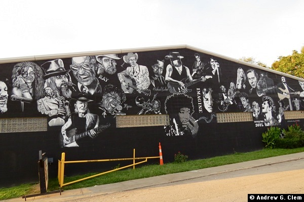 KC rock, blues mural