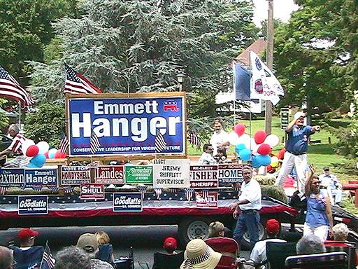 Hanger, Aug Co GOP float 1