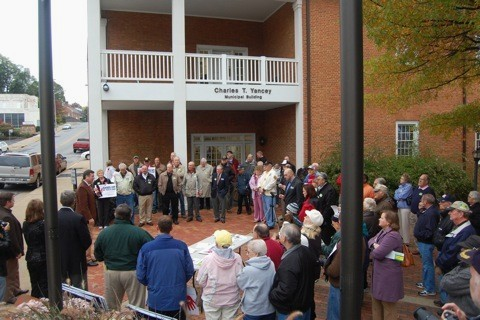 Health care rally in Waynesboro