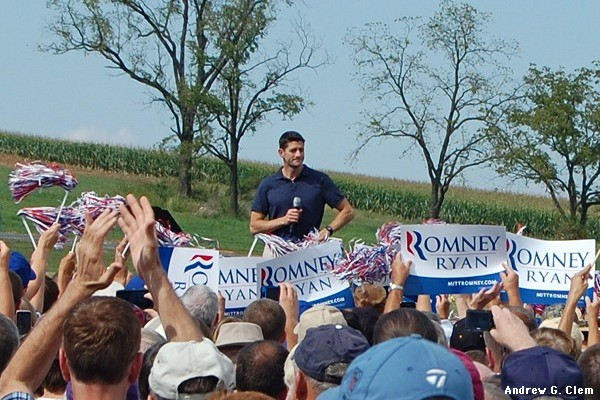 Paul Ryan, Romney signs