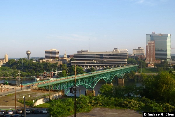 Knoxville skyline, Gay Street Bridge
