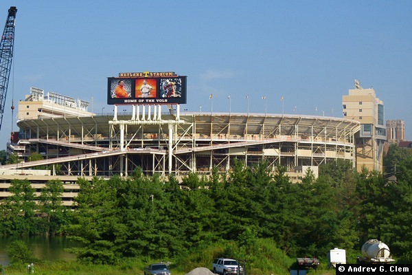 Neyland Stadium from east