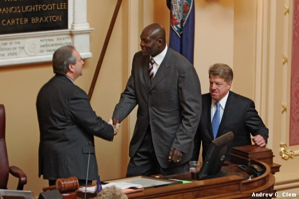 Lt Gov Bolling, Bruce Smith in Va Senate