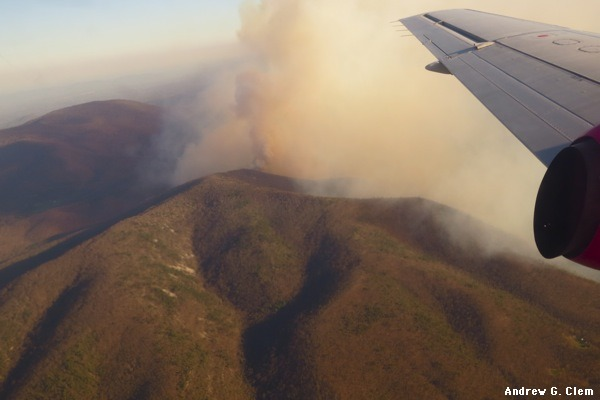 Rocky Mount forest fire
