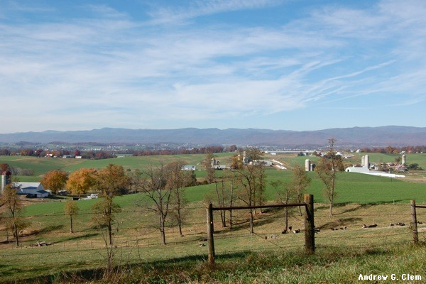 Rockingham County farms, mountains