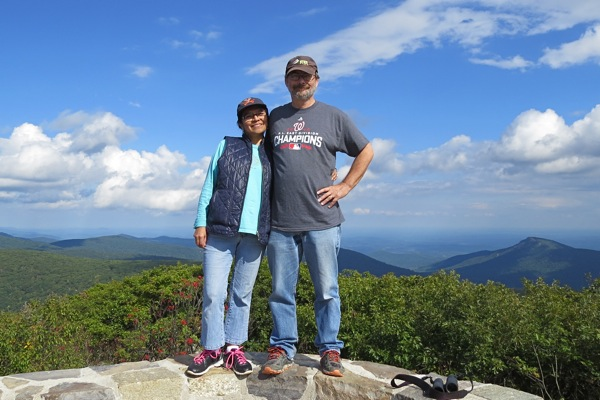 Andrew, Jacqueline at Hawksbill Mountain