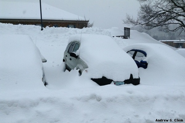Ford Escape snow-buried