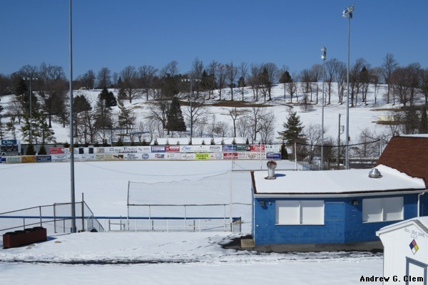 Ted Bosiack Field, snow