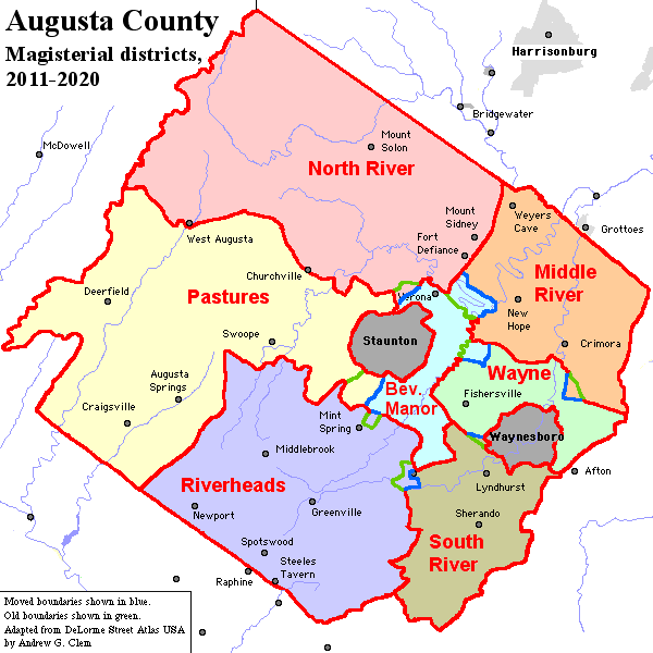 Augusta County districts 2011 change